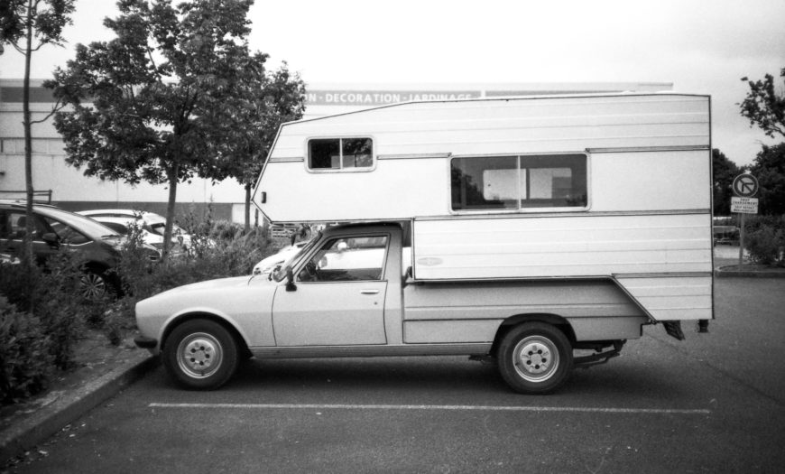 Camping roulant.