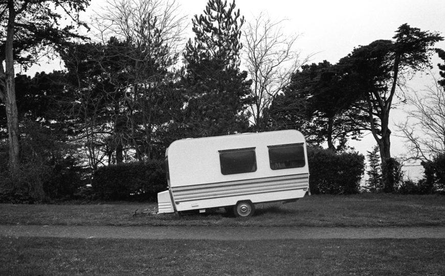 Camping penché.